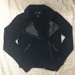 🔥4 FOR $20🔥 Stud Zip Cropped Sweatshirt/ Jacket